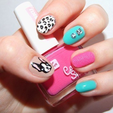 Love Frenchies! nail art by Paulina Domoradzka