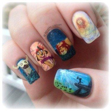 Lion King nail art by Amanda