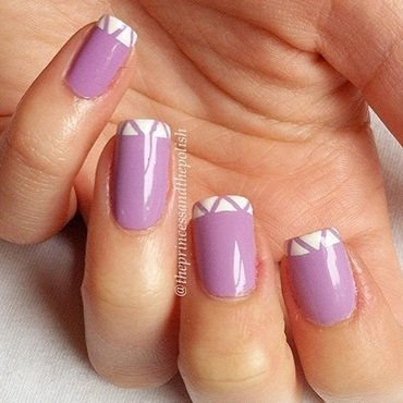Lilac Triangles nail art by Alexandra