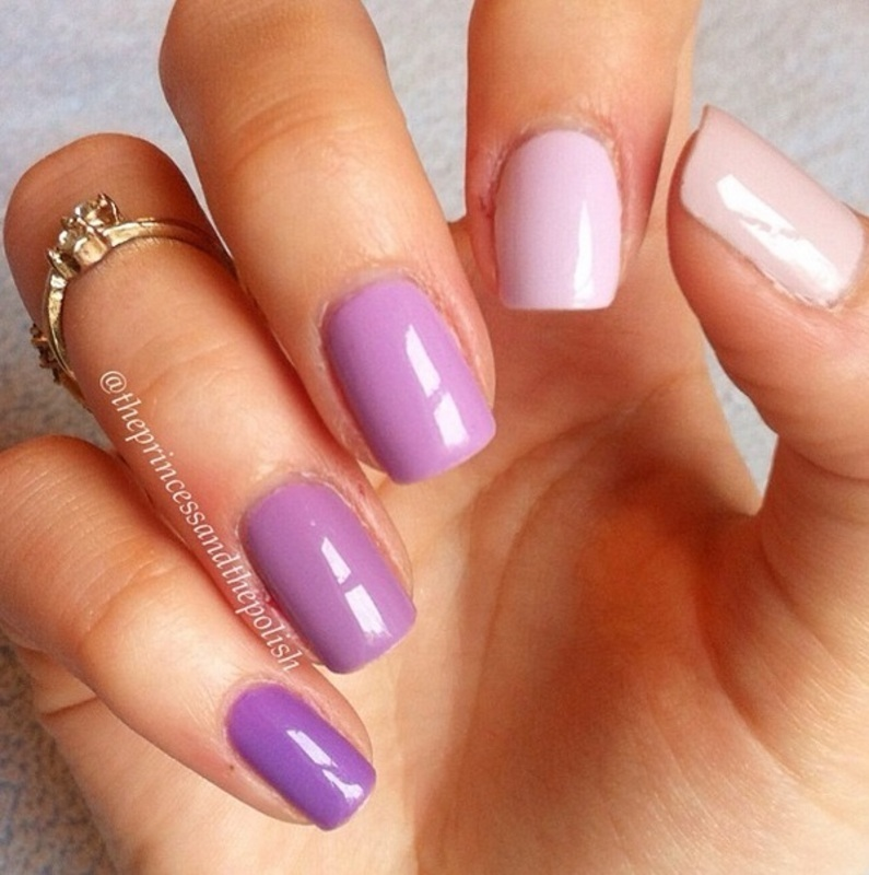 Essie go ginza, Essie Neo Whimsical, Topshop Mellow, Beauty UK Soft Lilac, and Rimmel Ultra Violet Swatch by Alexandra