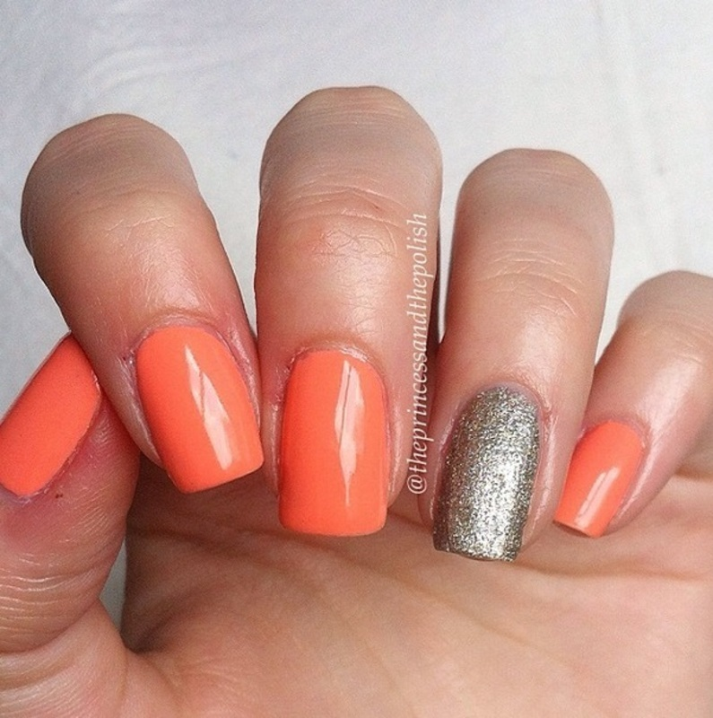 Essie Beyond Cozy and Maybelline Coral Heat Swatch by Alexandra