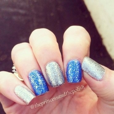 OPI It's frosty outside and OPI Kiss Me At Midnight Swatch by Alexandra