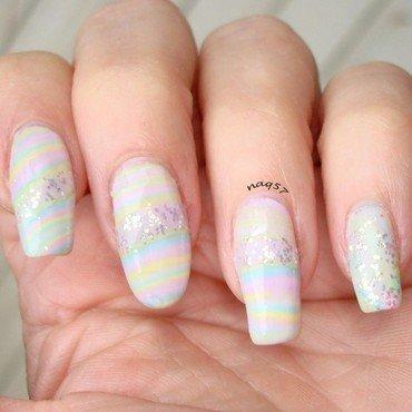 Pastel & Glitter Rainbow nail art by Nora (naq57)