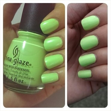 China Glaze Grass is Greener Swatch by JingTing Jaslynn