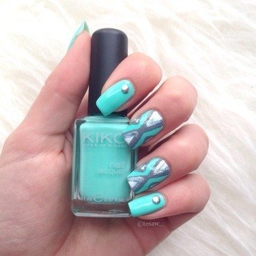 Traingl minty nailart nail art by tesaw