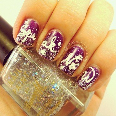 Taylor Swift Speak Now Nails nail art by sophdoesnails -