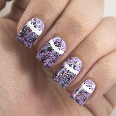 Lacey Lilac nail art by Marisa  Cavanaugh