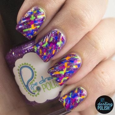Nail art ideas linkup neon glitter tape 4 thumb370f