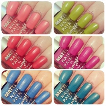 Barry m summer matte polish collection swatches thumb370f