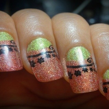 Holo reinforce nail art by Nicky