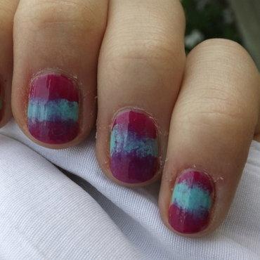 Tye-Dye ish Ombre nail art by Kayla
