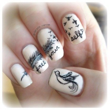 Free Yourself nail art by Amanda