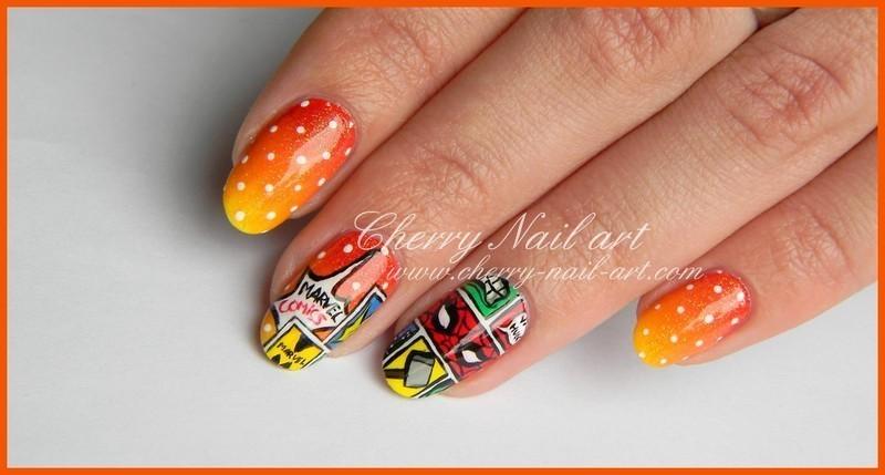 Nail art Marvel nail art by Cherry Nail art - Nailpolis: Museum of ...