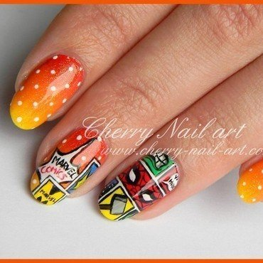 Nail art bd super heros marvel 2 thumb370f