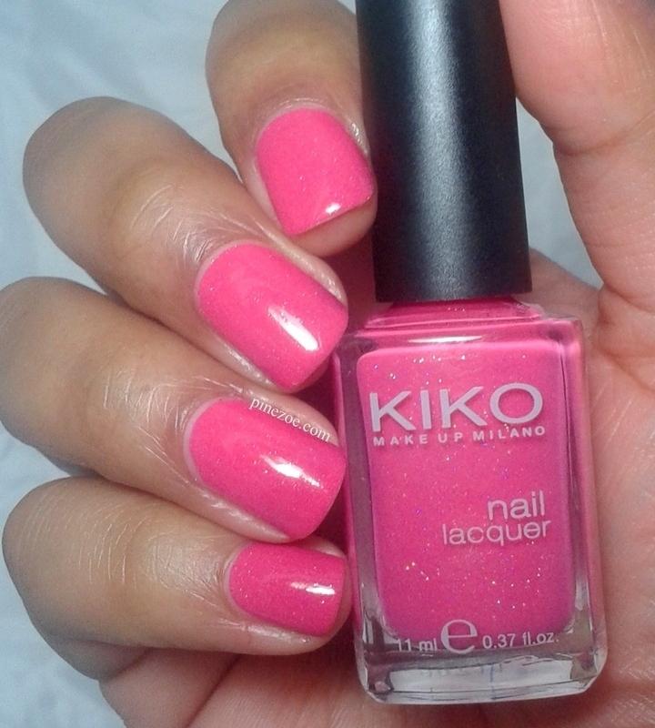 Kiko 504 Pearly Glaze Pink Swatch by Pinezoe