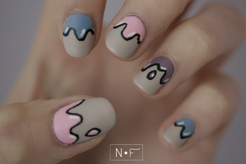 Dripping nails! nail art by NerdyFleurty