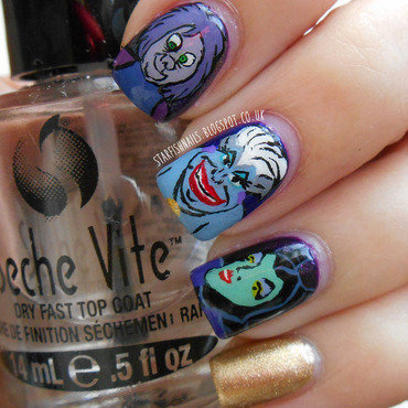 Disney Villains nail art by Lisa Yabsley