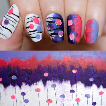 Abstract-art inspired nail art by simplynailogical