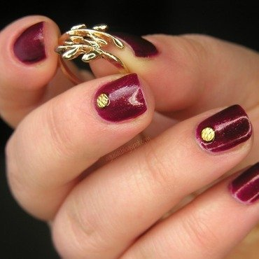 Studded elegance nail art by Agni