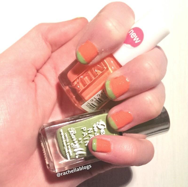 Modern French Mani - A Burst Of Colour nail art by RachellaBlogs