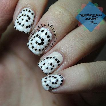 Dotted Swirl nail art by Karise Tan