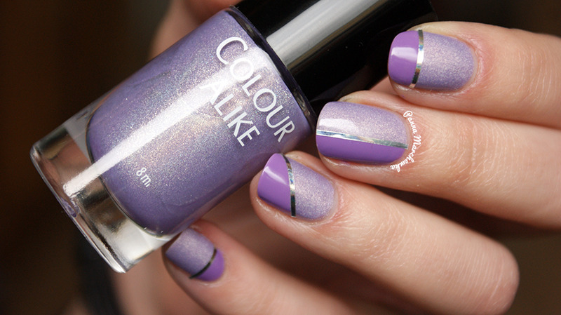 two faces of purple nail art by Panna Marchewka