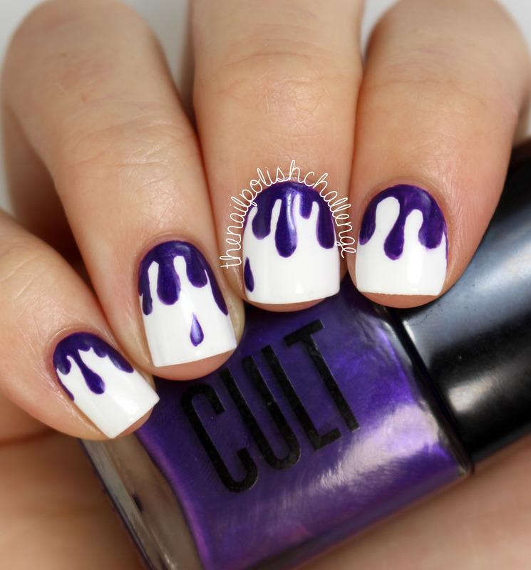 Drippy Nail Art nail art by Kelli Dobrin