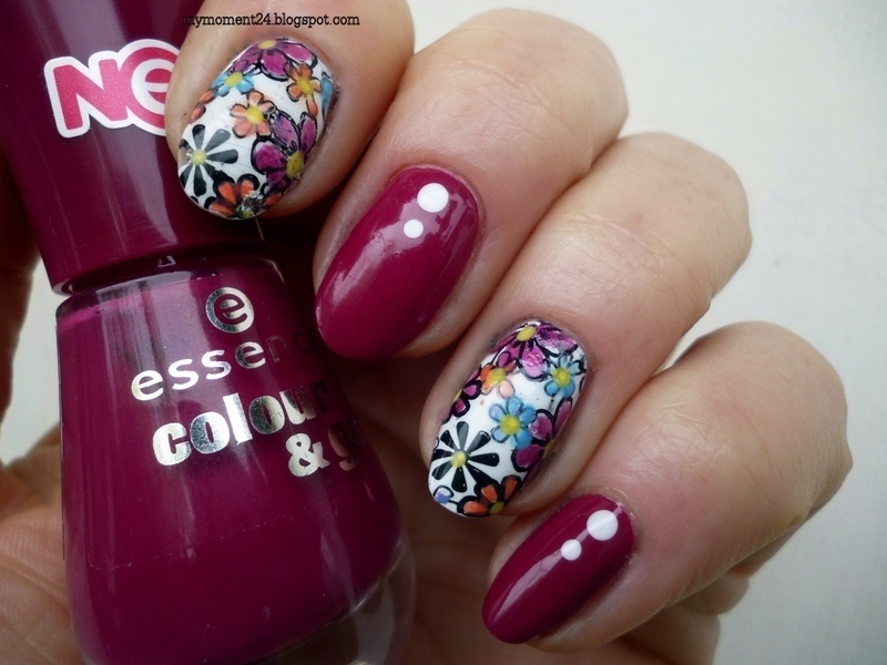 Flower nail art by T. Andi
