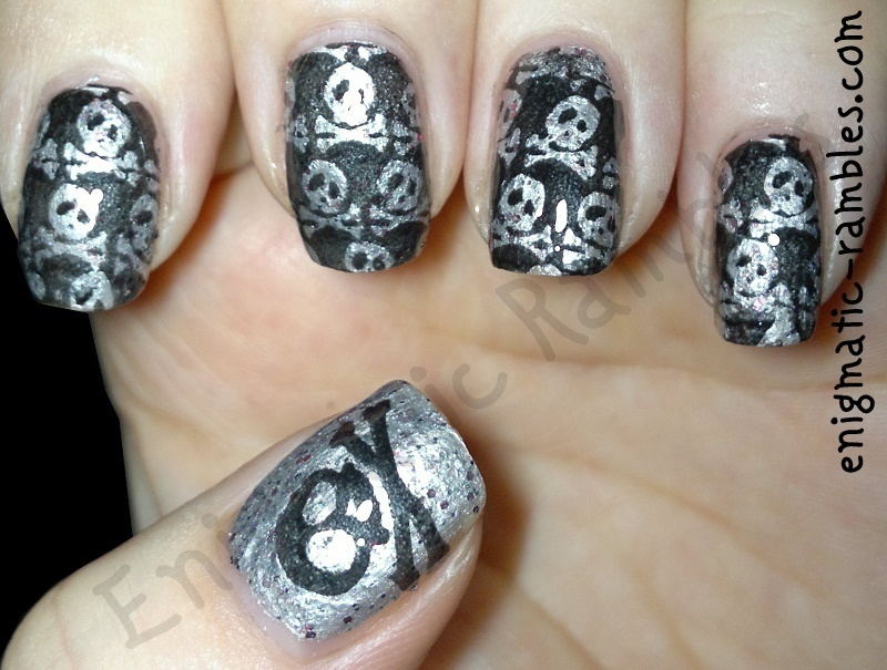 Pirate Nails nail art by Enigmatic Rambles
