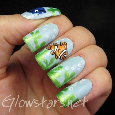 Fingerfood's Theme Buffet: Under The Sea nail art by Vic 'Glowstars' Pires