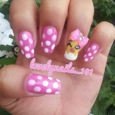 Easter Nails nail art by Magaly
