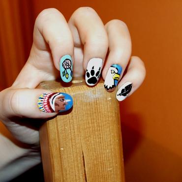 Howgh! nail art by Paulina Domoradzka