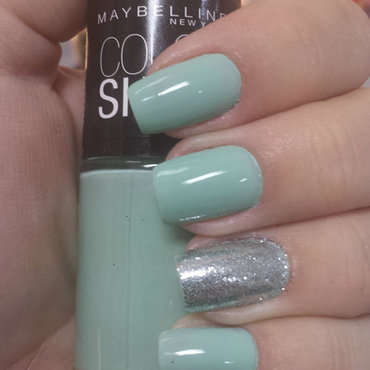 Mint Green nail art by Charmaine Alves