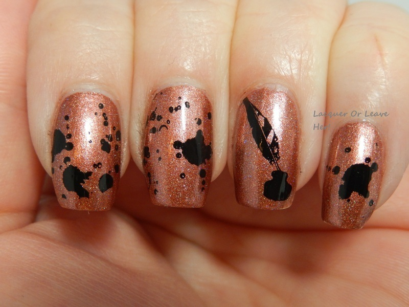 Writing old school nail art by Lacquer or Leave Her! Michelle Chouinard
