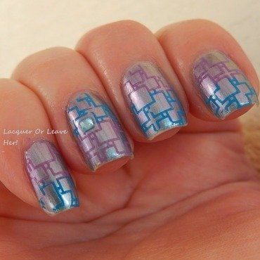 Square grids nail art by Lacquer or Leave Her! Michelle Chouinard