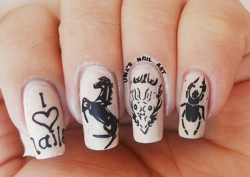 tatto nails.. nail art by Uma mathur