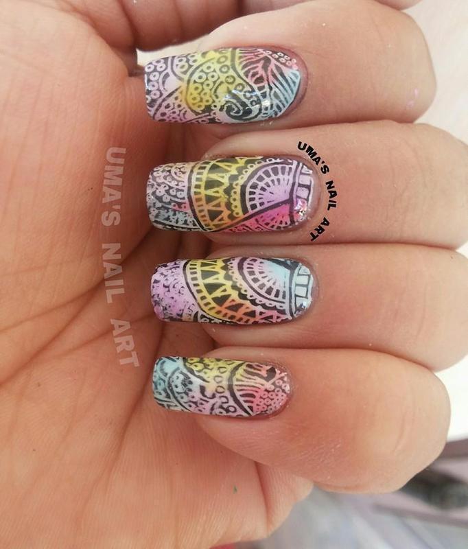 sheer share nail art by Uma mathur