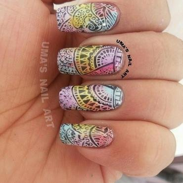 sheer share nail art by Uma mathur