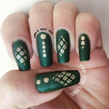 matte love... nail art by Uma mathur