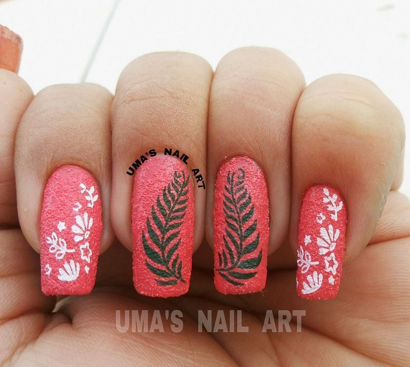 texture mania nail art by Uma mathur