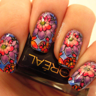 """Pretty Blossoms"" nail art by Karolyn"