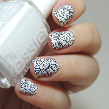 Black and white floral nails moyou pro 06  5  thumb370f