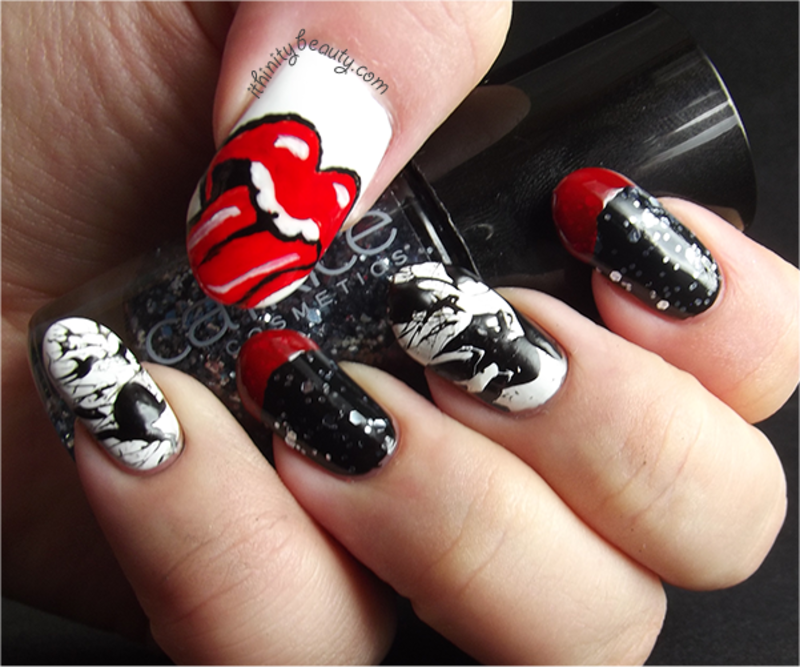 It's Only Rock N' Roll nail art by Ithfifi Williams