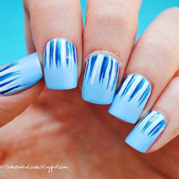 Blue waterfall nail art by Olaa
