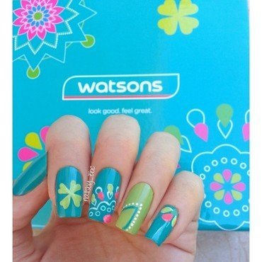 Watsons inspired ;) nail art by Zeynep Celikel