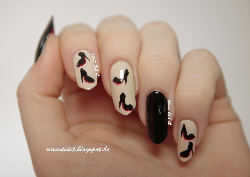 Let's Go Louboutin! nail art by Robin
