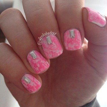 Dry Brush Mani nail art by allpolishedout
