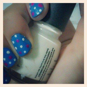 Summer Polka Dots nail art by JingTing Jaslynn