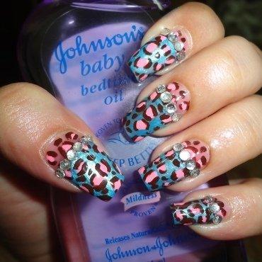 Leopard Nail Art  nail art by Leneha Junsu