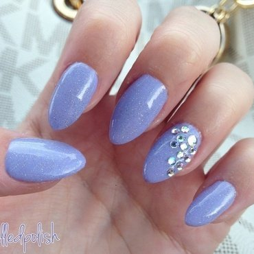 Lavender Sparkles nail art by Maddy S